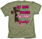 Cherished Girl Kerusso MY KING MY SOLDIER Womens Cross Christian T-Shirt NEW