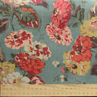 "Cath Kidston Half Yard Cotton Canvas Fabric 56""(145cm) Wide Blue Floral"