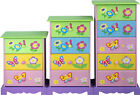 CHILDREN KIDS GIRLS/BOYS PINK/BLUE BEDROOM CHEST OF 3 DRAWERS