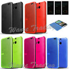 Ultra Thin Dot view Case Smart Flip Folio Cover For New HTC ONE M8