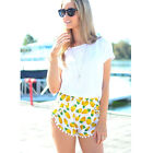Casual Women short pants beach bottom animal print swimwear mini brief cover up