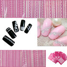New 3D White Lace Crystal Design Nail Art Nail Stickers Manicure Decoration DIY