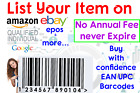 UPC & EAN NUMBERS barcode BAR CODE NUMBER BARCODES for Amazon Ebay