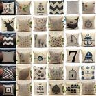 Fashion Linen Throw Pillow Cases Home Decorative Cushion Cover Square 45X45cm