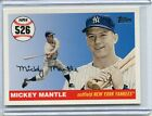 2008 Topps Baseball Card Mikcey Mantle New York Yankees NR MT # MHR 526
