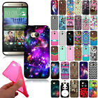 For Htc One 2 M8 Tpu Design Flexible Silicone Gel Skin Rubber Back Case Cover