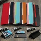 Mixed-Color PU Leather Flip Wallet Card Stand Case Cover For iPhone 6 Plus 5.5''