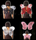 Large Adult or Kids Butterfly Fairy Wings Pink White Black and Red 42 x 36cm