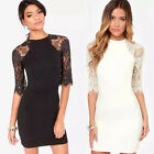 Womens Fashion Sexy Lace Casual Evening Cocktail Party Mini Summer BODYCON Dress