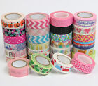 New Design 1.5cm×10M paper Sticky Adhesive Sticker Decorative Washi Tape