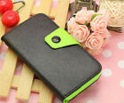 Black mobile phone luxury Wallet Card Holder Full Cover Case For HTC