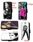 Elvis Presley Inspired Profile faux leather wallet phone case for Samsung iPhone