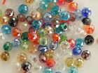 CRYSTAL GLASS FACETED RONDELLE SPACER LOOSE BEADS 3X4mm, 4x6mm, 6x8mm, 8x10mm