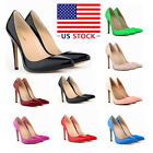 Womens Shoes Closed Toe High Heels Women's Pointed Slender Leather Pumps Shoes