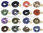 Natural Gemstones Freeform Rondelle Coin Disc Spacer (3~5)x(8~13)mm Beads 15''