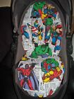 marvel dc super hero silver cross surf pram liner and harness pads foam padded