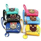 2015 Women PU Leather Owl Printed Hollow Zipper Purse Bag Fashion Short Wallet Z