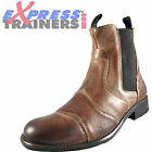 Base London Mens Victory Premium Leather Designer Boots Brown *AUTHENTIC*