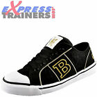 Babycham Womens Girls McPhee Diamante Casual Plimsoll Trainers Black *AUTHENTIC*