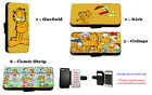 Garfield Inspired comic collage faux leather wallet phone case for Samsung HTC