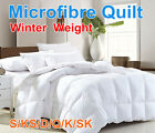 ALL SIZE Microfibre Winter Weight Quilt Duvet Blanket Soft-Promotion Sale