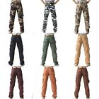 Men's Military Army Combat Camo Casual Pockets Cargo Pants Trousers 10 Colours