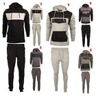Mens Tracksuit Full Set Fleece Hoodie Top Bottoms SweatShirt Jogging Trackies