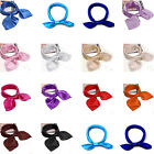 Fashion Women Soft Scarf Satin Square Scarves Satin Neckerchief Neck Headband