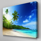 C364 Tropical Beach Ocean Canvas Wall Art Ready to Hang Picture Print