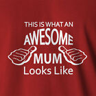 New Ladies Women's T-shirt Awesome Mum gifts for mom mothers day gift birthday
