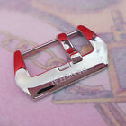 24mm Cracks Crazy Horse Cow Leather Strap  Screw in Pin Buckle For PAM RADIOMIR