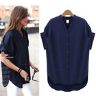 PLUS SIZE Women's Summer Short Sleeve V-Neck Casual Tops Blouses T-Shirts 5XL~L