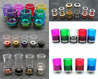 Glass Drip Tips Color SS Base Pyrex Drip Tip, Stainless Steel Clone - US Seller