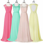 Long Chiffon Summer Lace Bridesmaid Wedding Pageant Evening Prom Gown Dresses ❤❤