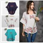 New Women Peasant Ethnic Floral Boho #S Top Tunic Mexican Gypsy Maternity Dress