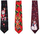CHRISTMAS Musical Tie SANTA Snowman Reindeer OFFICE PARTY Novelty GIFT