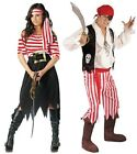 Mens Ladies PIRATE Fancy Dress Costume Couples Outfit