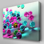 AB057 Cyan and Magenta Baubles Canvas Wall Art Ready to Hang Picture Print
