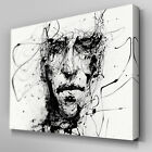 AB193 Abstract Face Rough Pen Canvas Wall Art Ready to Hang Picture Print