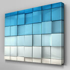 AB261 Blue Wall Depth Effect Canvas Wall Art Ready to Hang Picture Print