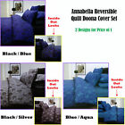 Annabella Reversible Quilt Doona Cover Set QUEEN KING - 2 Designs for Price of 1