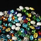 100pcs 8x10mm oval shape crystal stone rhinestone for nail art phone case dec.