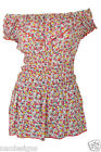 SHIRRED WAIST DITSY FLORAL BARDOT STYLE NECKLINE RUFFLE SLEEVE MINI DRESS