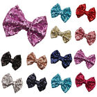 Lovely Kids Girls  Glitter Shiny Sequined Bow Bowknot Hair Clip Headdress