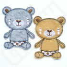 CUTE POLKA TEDDY BEAR Iron Sew On Patch Tshirt Transfer Applique Badge Kids Baby