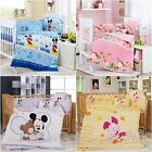 Cartoon Theme Lovely Baby Bedding Set Crib Cot Quilt Sets Cot Bumper 6 Piece Set
