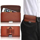 Horizontal PU Leather Pouch Belt Clip Case For Nokia Asha 230