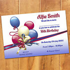 Personalised Boys Girls Adults MAGNETIC Birthday Party Invites Magnets + Envs
