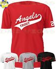 Anaheim Los Angeles Angels Mike Trout Jersey Tee T-Shirt Men Size S-5XL on Ebay