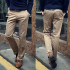 Fashion Men's Solid Color Trousers Straight Pants Formal Long Suit Pants Bottoms